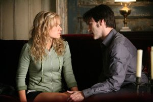 Sookie with vampire Bill. (Photo: Courtesy of HBO)