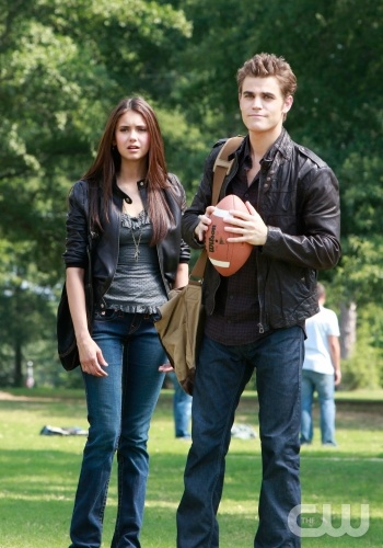 Nina Dobrev as Elena and Paul Wesley as Stefan in The CW's THE VAMPIRE DIARIES. Photo courtesy of Quantrell Colbert/The CW.