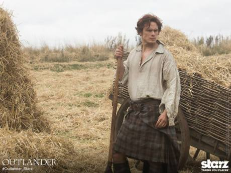 Sam Heughan as Jamie Fraser. Photo courtesy of Outlander_Starz